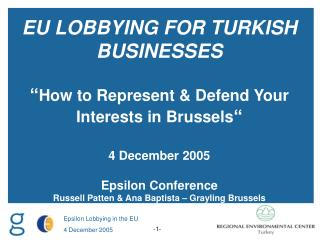 INTRODUCTION TO BRUSSELS AND THE INSTITUTIONAL LANDSCAPE