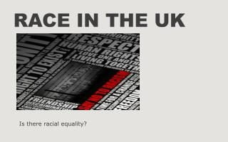 Race in the UK