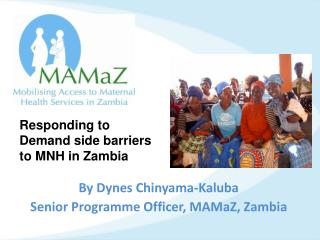 By Dynes  Chinyama-Kaluba Senior Programme Officer,  MAMaZ , Zambia