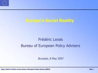 Europe's Social Reality