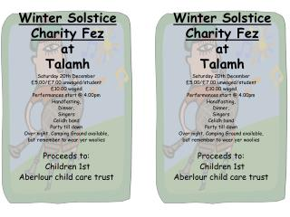 Winter Solstice Charity Fez at  Talamh