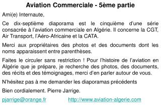 Aviation Commerciale - 5ème partie Ami(e) Internaute,