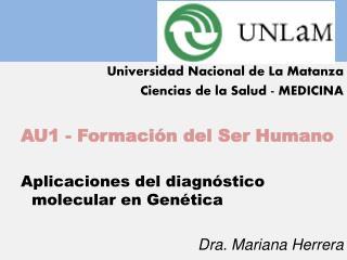 Universidad Nacional de La Matanza Ciencias de la Salud - MEDICINA AU1 - Formación del Ser Humano