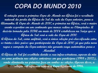 COPA DO MUNDO 2010
