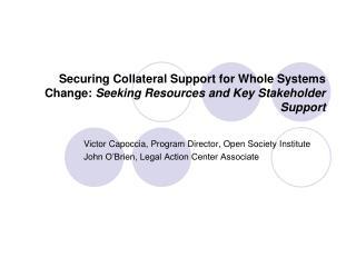 Victor Capoccia, Program Director, Open Society Institute