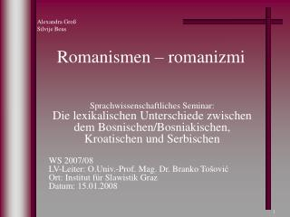 Romanismen – romanizmi