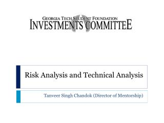 Risk Analysis and Technical Analysis