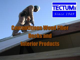Cementitious Wood Fiber Decks and Interior Products