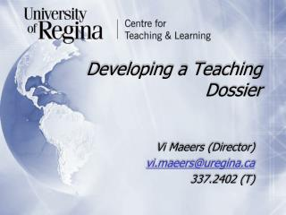 Developing a Teaching Dossier