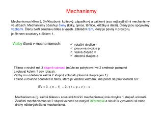 Mechanismy