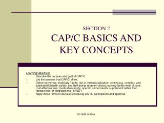 SECTION 2 CAP/C BASICS AND KEY CONCEPTS