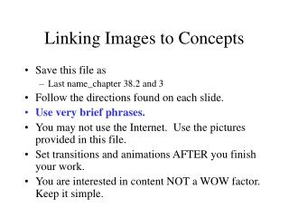 Linking Images to Concepts