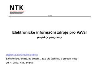 Elektronické informační zdroje pro VaVaI projekty, programy