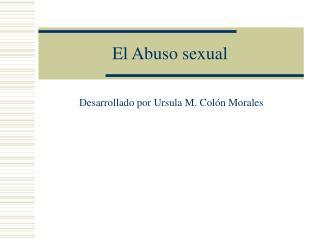 El Abuso sexual