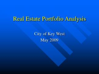 Real Estate Portfolio Analysis
