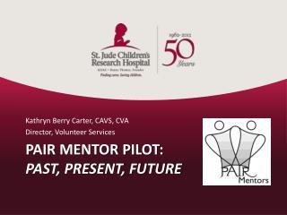 PAIR Mentor Pilot: Past, Present, Future
