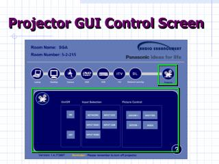 Projector GUI Control Screen