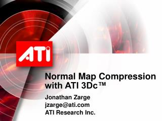 Normal Map Compression with ATI 3Dc