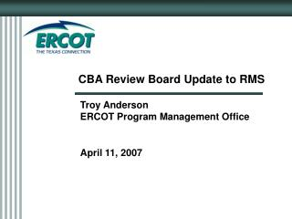 CBA Review Board Update to RMS
