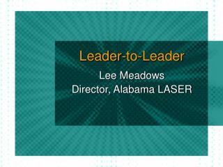 Leader-to-Leader