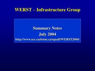 WERST – Infrastructure Group