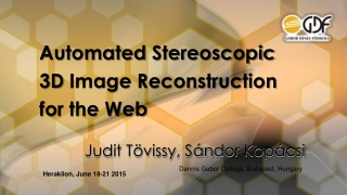 3D-Image Reconstruction on  Clustering Technology