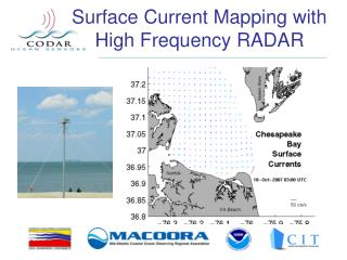 Surface Current Mapping with High Frequency RADAR