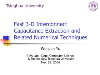 Fast 3-D Interconnect Capacitance Extraction and Related Numerical Techniques