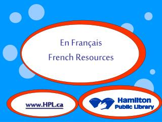 En Français French Resources