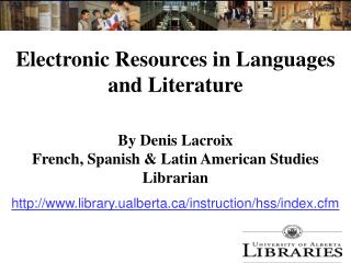 Electronic Resources in Languages and Literature