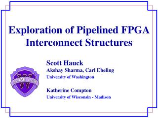 Exploration of Pipelined FPGA Interconnect Structures