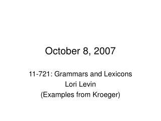October 8, 2007