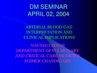 DM SEMINAR APRIL 02, 2004