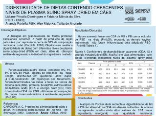 Introdução/Objetivos          A utilização  em  grande escala  de   fontes  proteicas