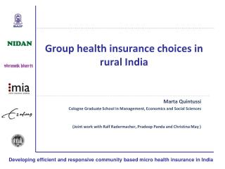 Group health insurance choices in rural India