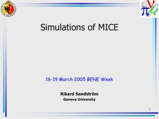 Simulations of MICE