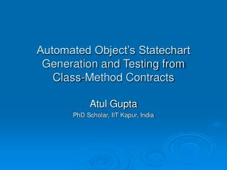 Automated Object's Statechart Generation and Testing from  Class-Method Contracts