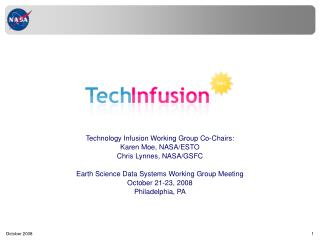 Technology Infusion Working Group Co-Chairs: Karen Moe, NASA/ESTO Chris Lynnes, NASA/GSFC
