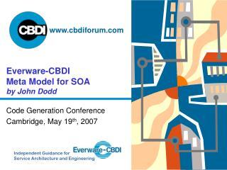 Everware-CBDI Meta Model for SOA by John Dodd