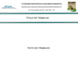 TEXTO DO TRABALHO