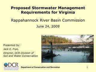 Proposed Stormwater Management Requirements for Virginia