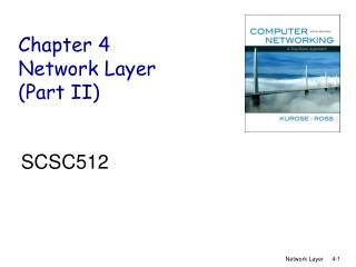 Chapter 4 Network Layer (Part II)