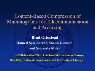 Content-Based Compression of Mammograms for Telecommunication and Archiving