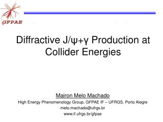 Diffractive J/ ψ + γ  Production at Collider Energies