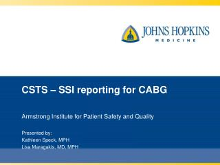 CSTS � SSI reporting for CABG