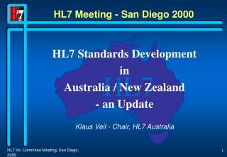 HL7 Meeting - San Diego 2000