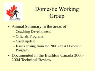 Domestic Working Group