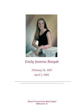 Emily Jasmine Ranyak