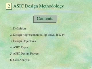 2   ASIC Design Methodology