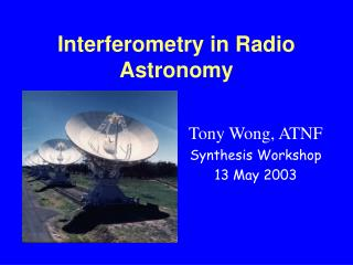 Interferometry in Radio Astronomy